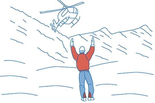 Hubschrauberbergung